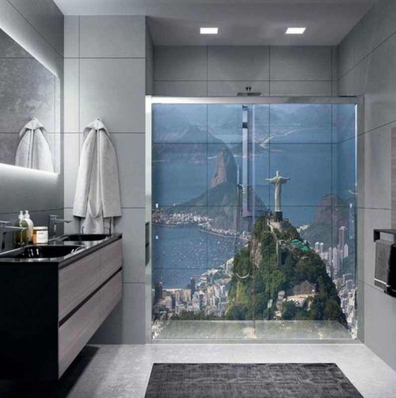 Adesivo Decorativo para Banheiro Bairro do Limão - Adesivo Decorativo Grande