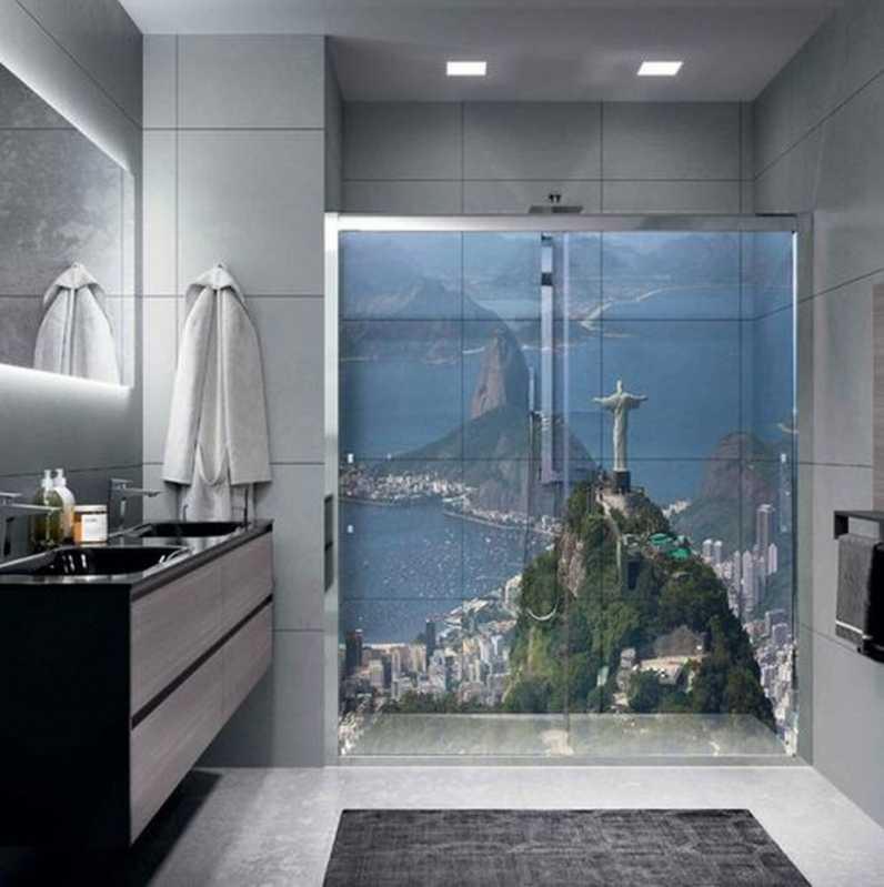 Adesivo Decorativo para Banheiro Vila Esperança - Adesivo Decorativo para Banheiro