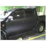 serviço de envelopamento veículo preto Paineiras do Morumbi